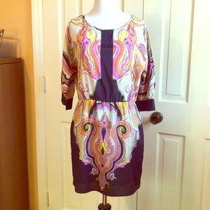 GLAM Paisley Print Cold Shoulder Tunic/ Dress
